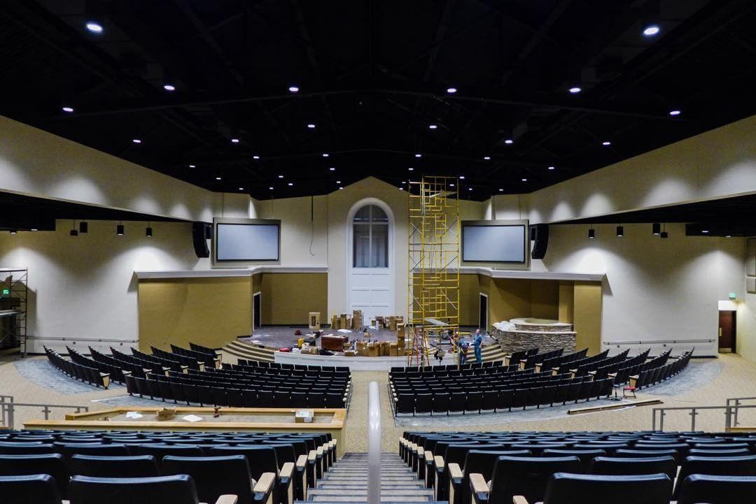 Sanctuary At Fair Park Baptist Church West Monroe LA Black Ceiling Clouds