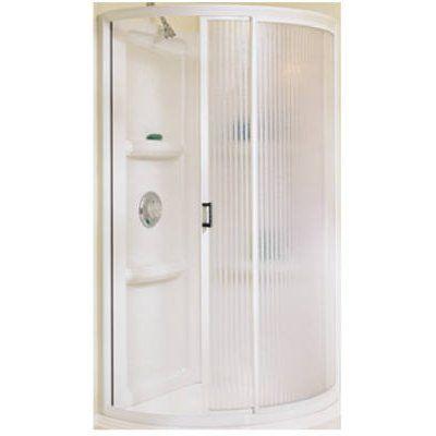 Masco Bath Shower Enclosure Kit, White, 34-In. Round: Model# 455000 ...