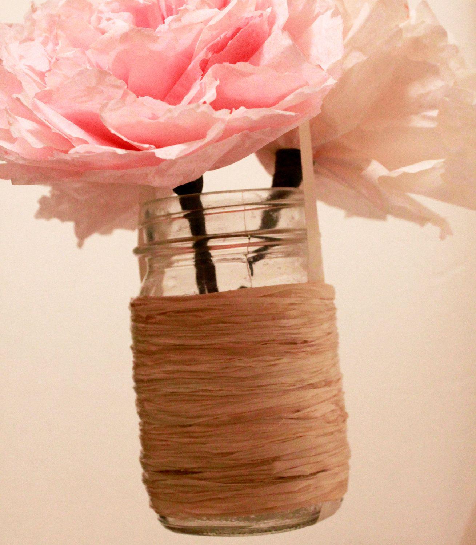 Set of 5- Hanging Mason Jar Wedding Decor, Mason Jar ...