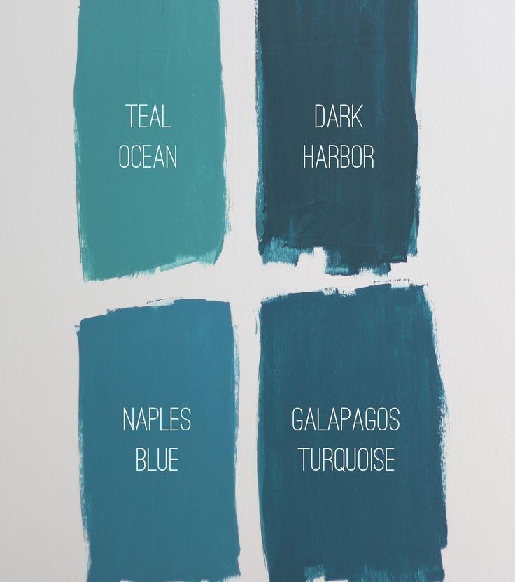 Choosing a Bedroom Paint Color Benjamin moore teal Dark harbor