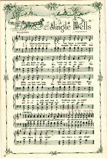 Beautiful Jingle Bells sheet music.