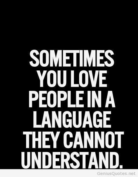 Love people in a language different