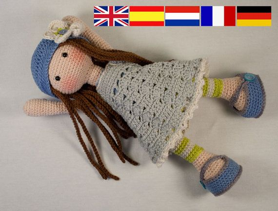 Crochet pattern for doll LILLY (Deutsch, English, French, Nederlands ...