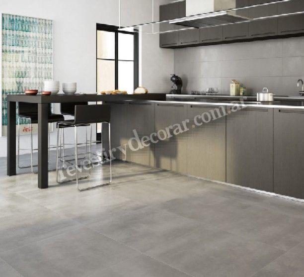 Paredes Pizarra Para Cocinas Decoración Del Hogar: Porcelanato Concrete Grey #porcelanato #ilva