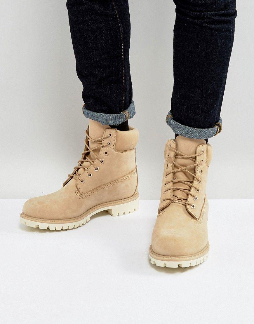 5c1f226dab53 Timberland Classic 6 Inch Premium Boots In Beige - Beige