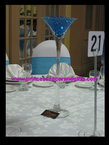 Tall Martini Vase Reception Centerpiece Shopping Floral