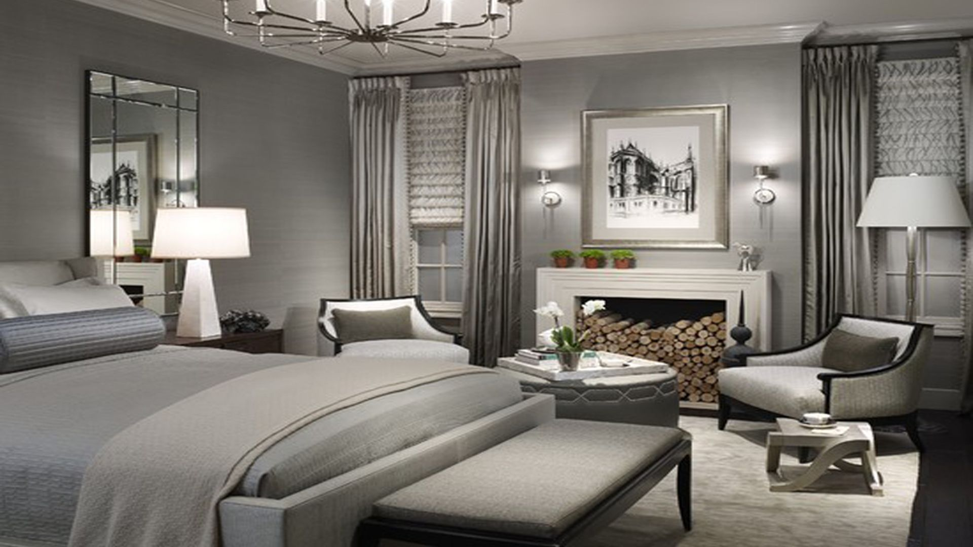 Best Excellent Grey Bedroom Walls Pictures Design Inspirations 640 x 480