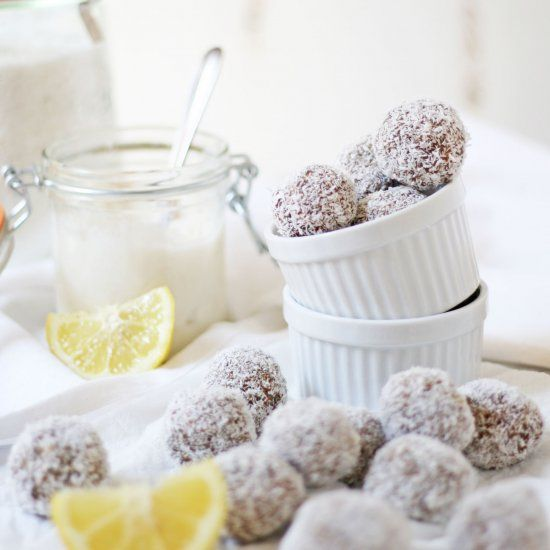 These Lemon & Coconut Truffles are filled with nourishing, healthy, vegan, goodness. You'll love how delicious and simple they are to make!