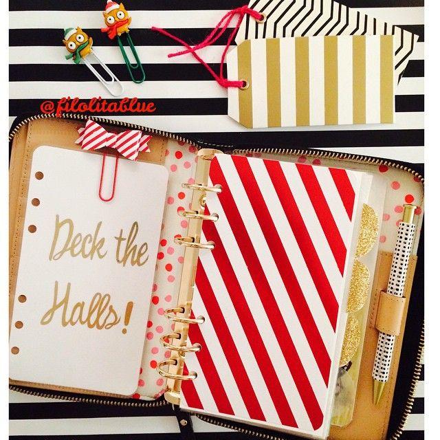 planningtobehappy Fa la la la la!  Love this time of the year! Dashboards, clips and pen are part of a #xmas set at my shop! #dashy #dashboard #planner #planning #agenda #organizer #dashboardqueen #kspadeclub #katespade #kikkik #filofax #filolitablue #lolitablueshop