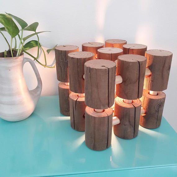 Handgemacht, Modern rustikal Stil Holz-Lampe - perfekt für einen - lampe für schlafzimmer