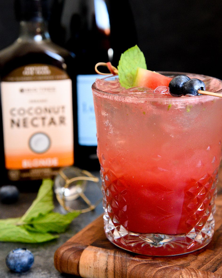 This Refreshing Watermelon Spritzer Is Everything You Want In A Summer Cocktail Blend Watermelon Mint And Coconu Spooky Food Mom Coffee Halloween Cocktails