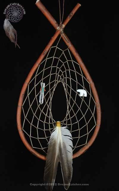 Authentic Red Willow Tee Pee Dream Catcher With White Bear And Enchanting Cherokee Indian Dream Catcher