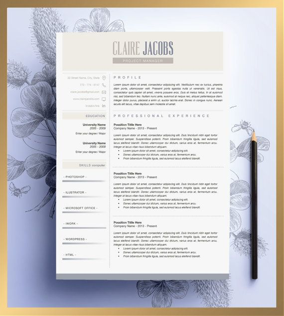 Creative Resume Template Editable in MS Word and Pages. | Job Hunt ...
