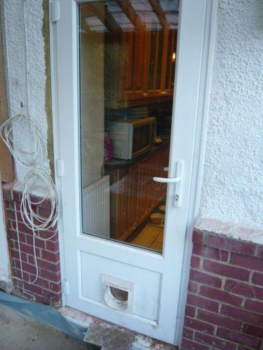 Upvc Double Glazed Back Door With Cat Flap Double Glazed Back Doors Back Doors Cat Flap