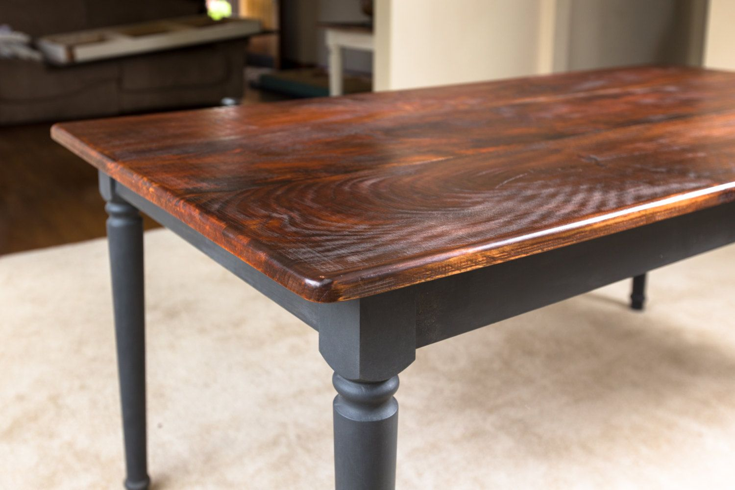 paint stain dining table - Google Search | Kitchen stuff | Pinterest