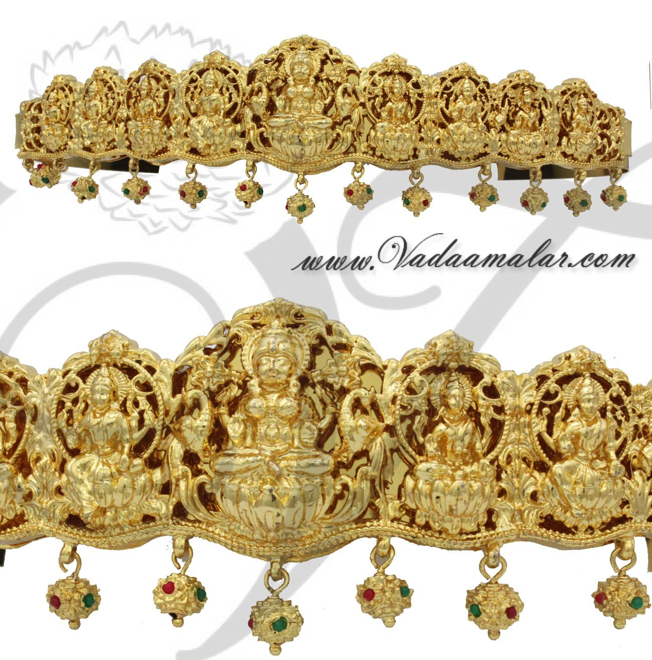 Gold vaddanam oddiyanam kammarpatta waisbelt designs south indian - Antique Lakshmi Design Oddiyanam Kamarpatta Indian Waist Hip Belt Details Https Www