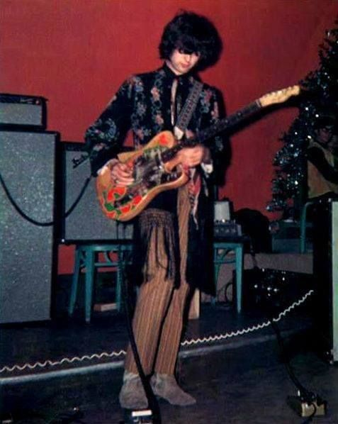 http://custard-pie.com Jimmy Page (with the Yardbirds) wearing this incredible fringed and embroidered jacket. The man was ahead of his time in everything....