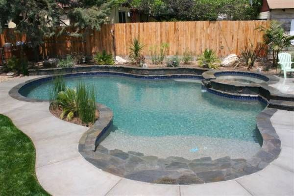 8 High Desert Flagstone Coping Steps Veneer And Beach Entry And Pebble Interior For The