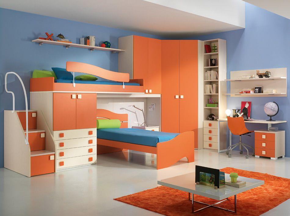 Camerette Spar A Ponte.Modern Italian Kids Bedroom Set One 608 By Spar P Kids Bedroom