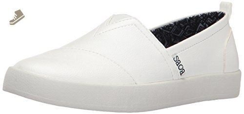 8afee9aa13e5f BOBS from Skechers Women's Bobs B-Loved-Rise and Sparkle Flat, White, 8 M  US - Skechers flats for women (*Amazon Partner-Link)