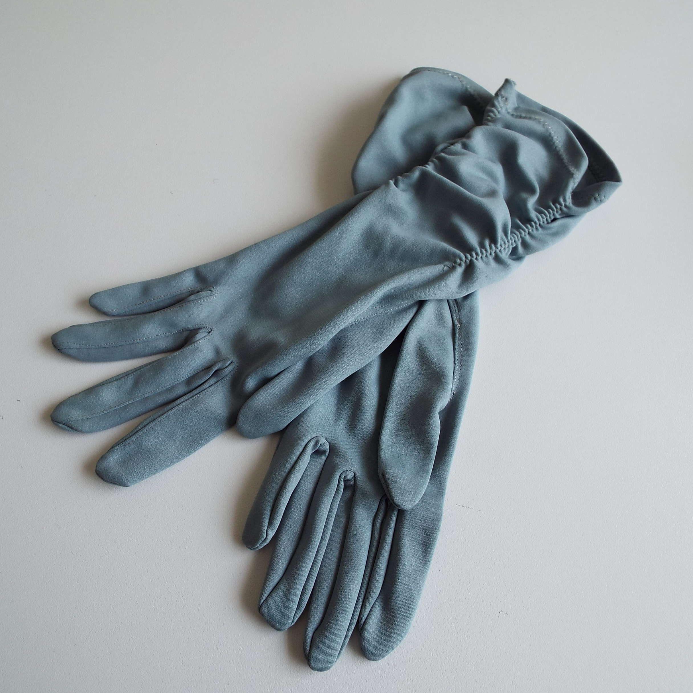 Vintage 1960's Finelon Powder Blue Evening Gloves Formal