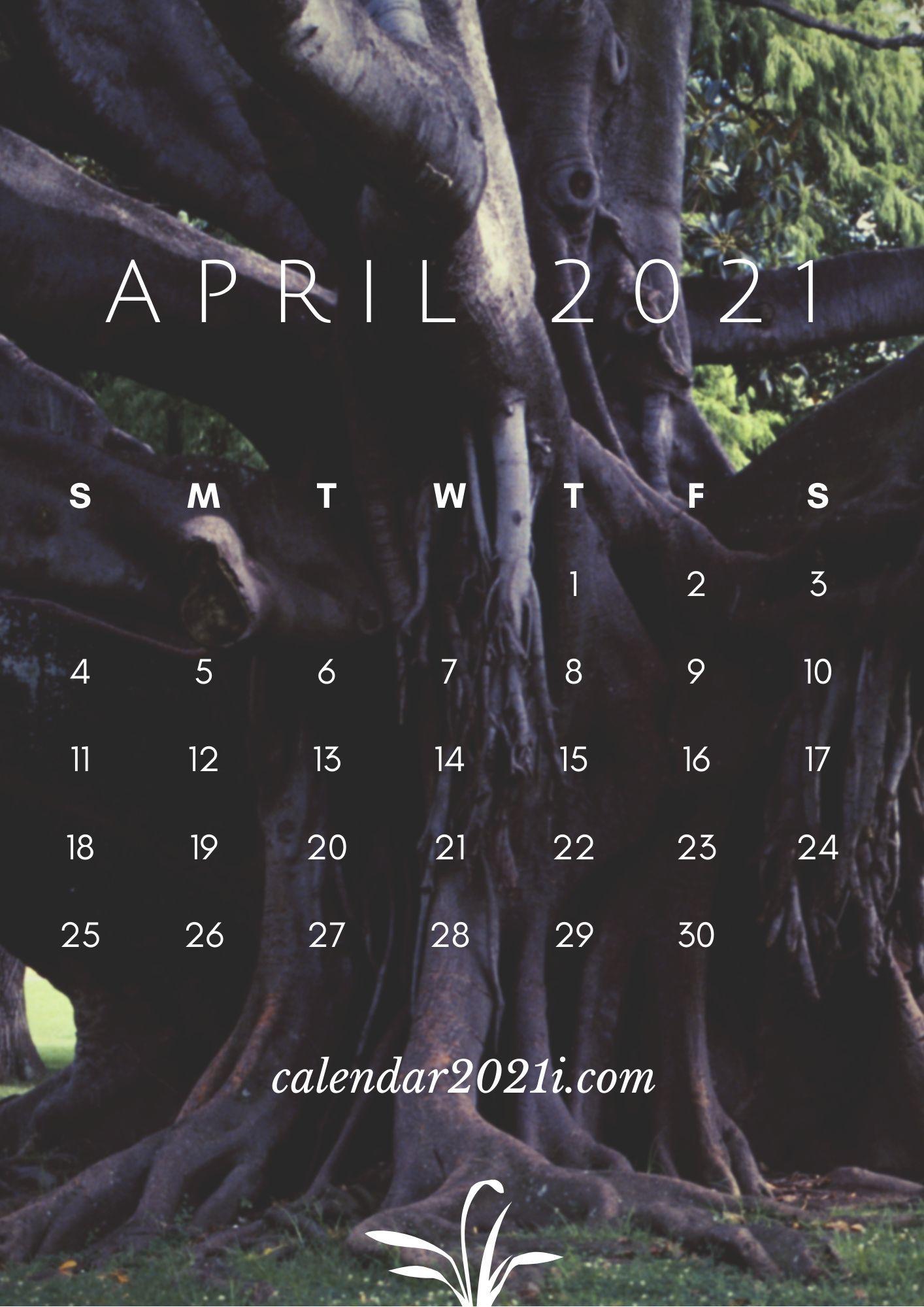 April Calendar 2021 HD Wallpaper for Apple iPhone ...