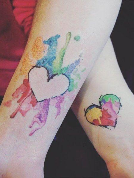 Partner Tattoo Liebe Hat Viele Farben Tattoo Pinterest
