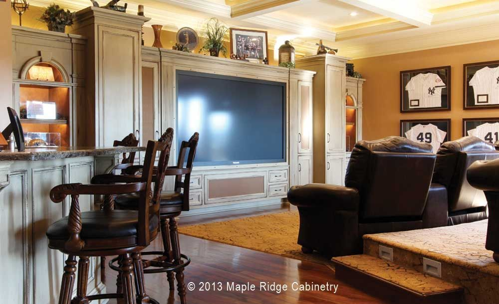 custom cabinetry fills this basement home theater basement home rh pinterest com Basement Home Theater Plans Wall Mounted Home Theater Designs
