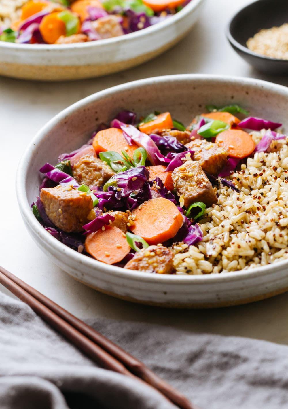 Mirin maple tempeh stir fry recipe this easy vegan