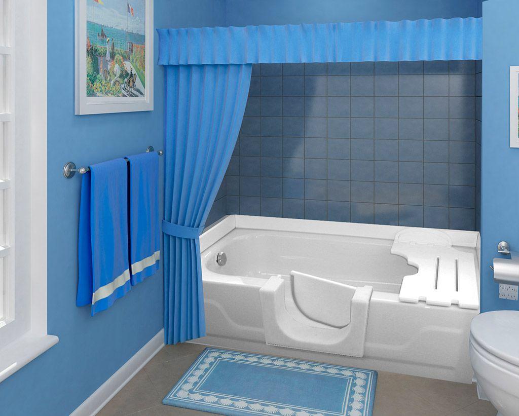 Walk In Bathtub Conversion Kit Walk Thru Insert Step In Bathtub Safety Bath Bathtub Inserts Bathrooms Remodel Handicap Shower