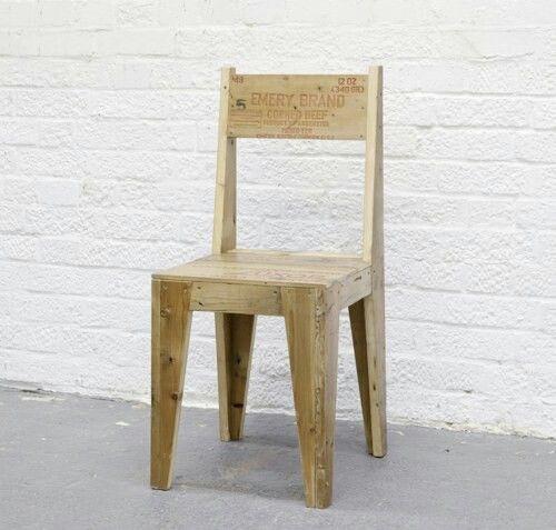 Hermosa silla reciclada decoracion en 2019 muebles de for Sillones de madera reciclada