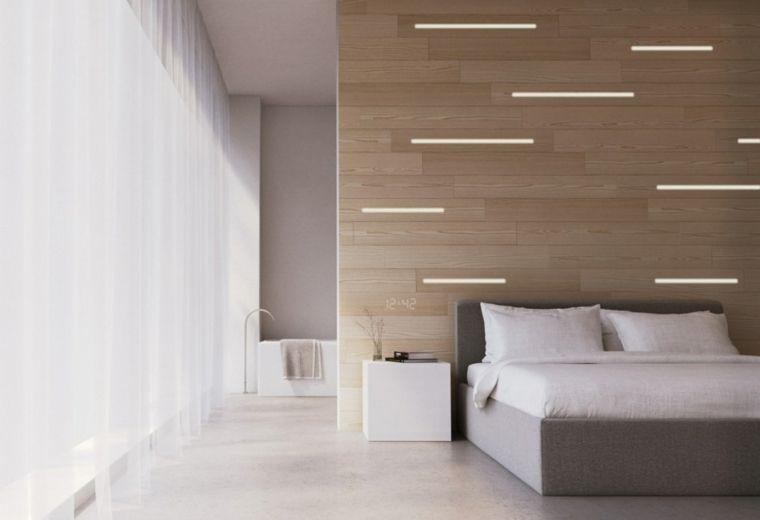 dormitorio pared madera Habitación Matrimonio Pinterest