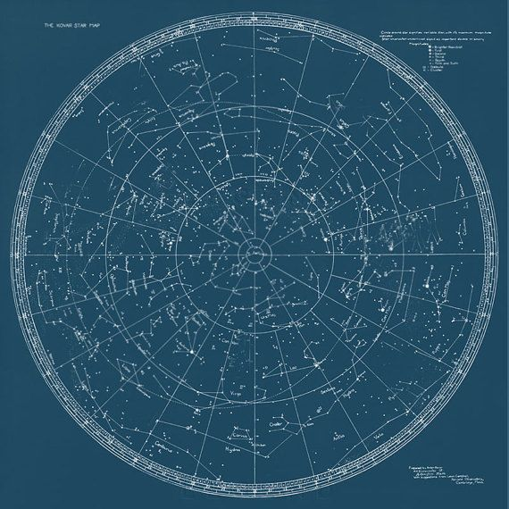 Kovar Star Map Constellation Chart Celestial Star Chart