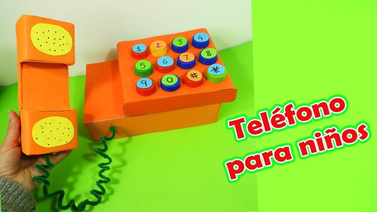 JUGUETE TELÉFONO PARA NIÑOS CON MATERIAL RECICLADO