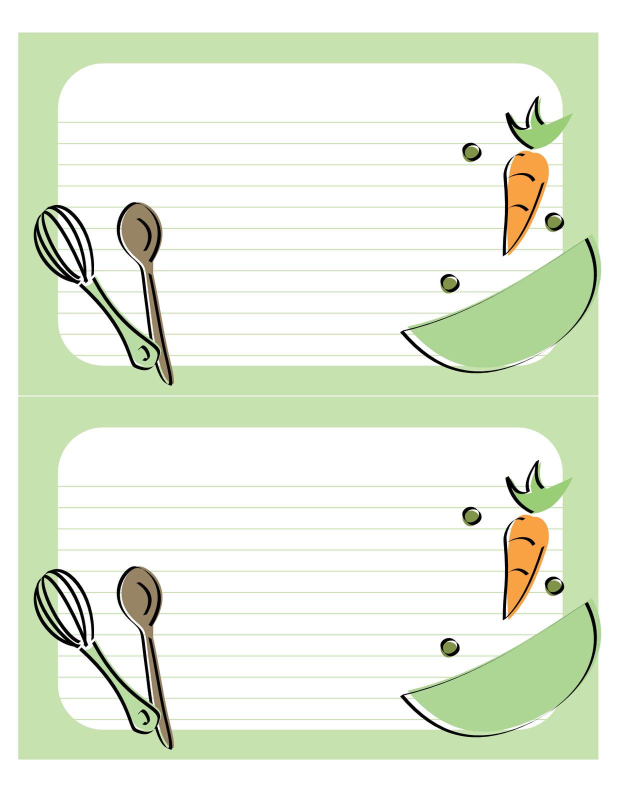 plantillas fichas de cocina recetas png recetario
