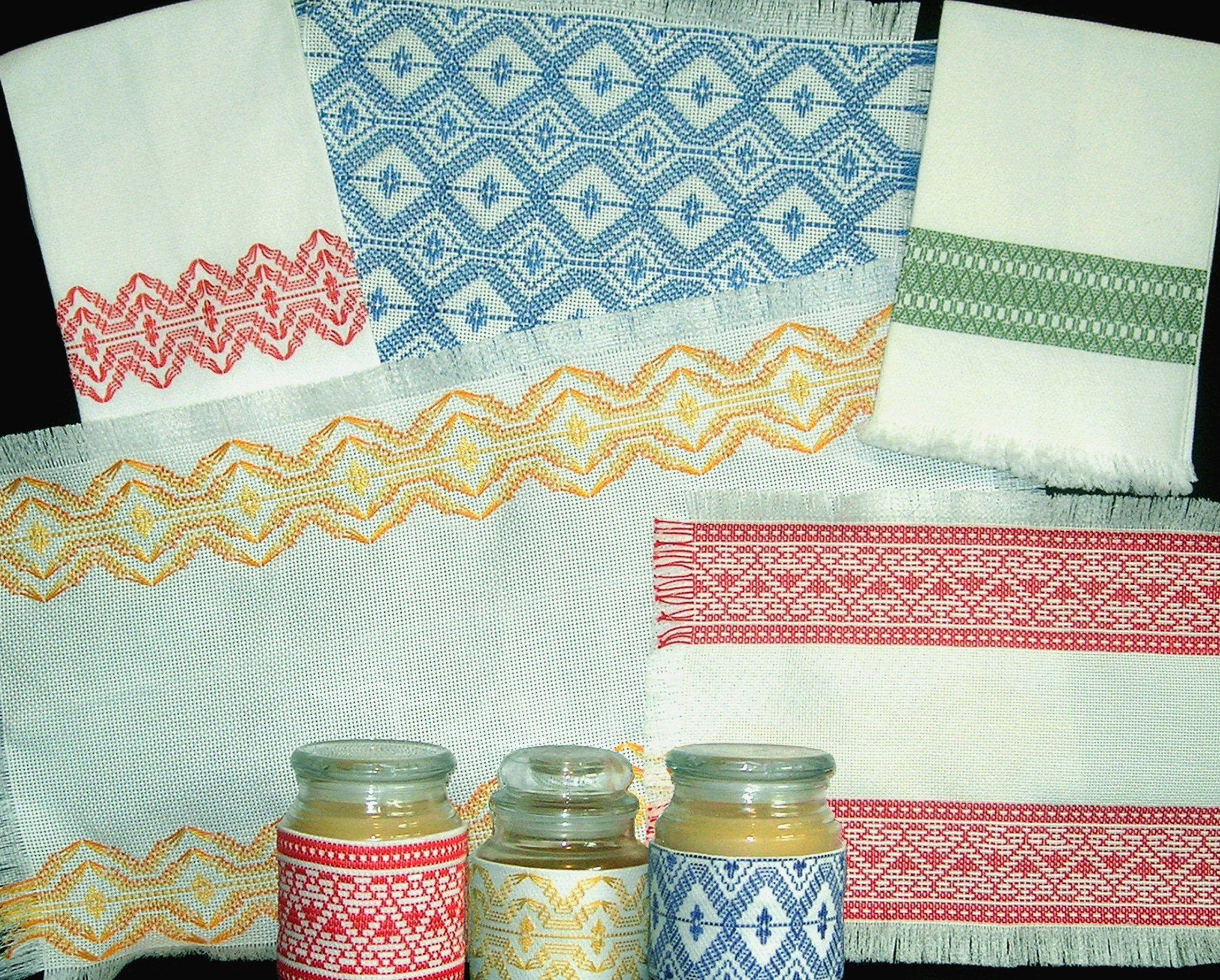 Huck Embroidery PDF Pattern Swedish Weave Designs ...