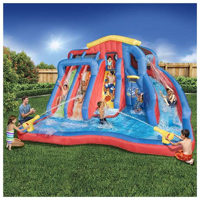 Banzai Hydro Blast Inflatable Play Water Park With Slides And Water Cannons Inflatable Water Park Water Slide Bounce House Inflatable Water Slide