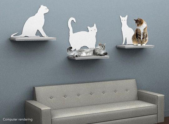 Cat Silhouette Cat Shelves from The Refined Feline