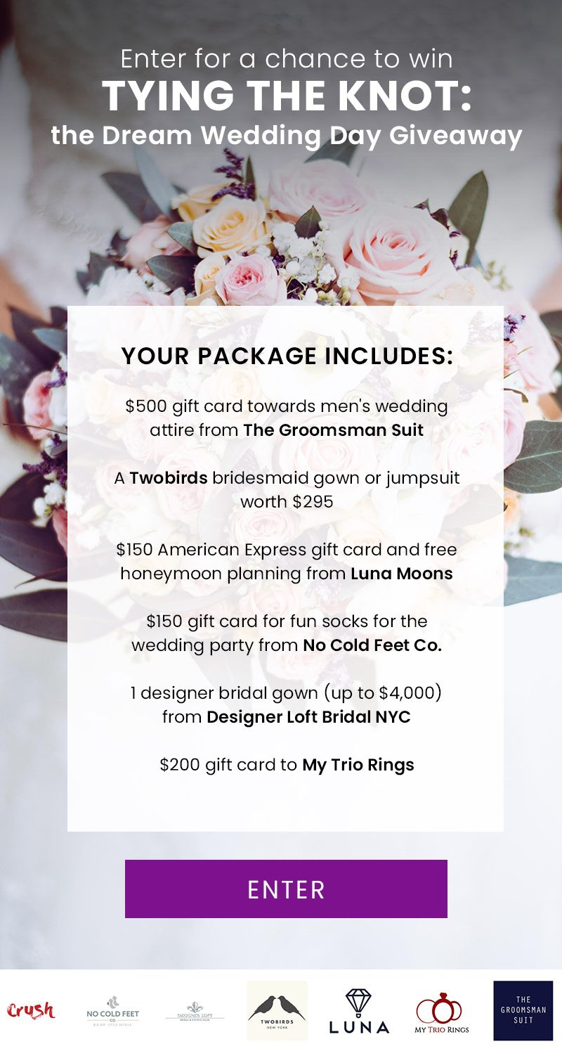 Dream Wedding Giveaway Enter For A Chance To Win Dream Wedding Wedding Giveaways Honeymoon Planning