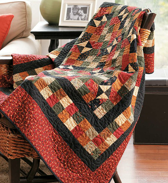 Photo of Rich Colors Create a Striking Quilt – Quilting Digest – Black and Orange Quilts