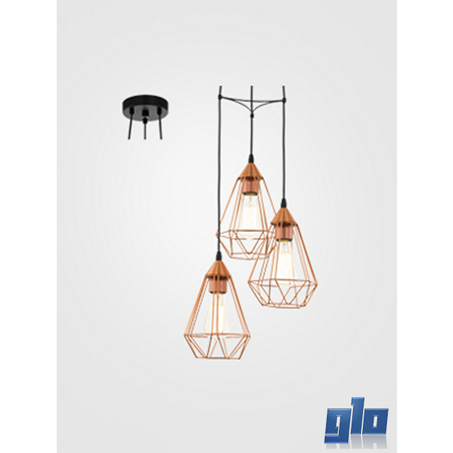 Glo Lighting Eurolux P691c Pendant Tarbes 310 Three Light