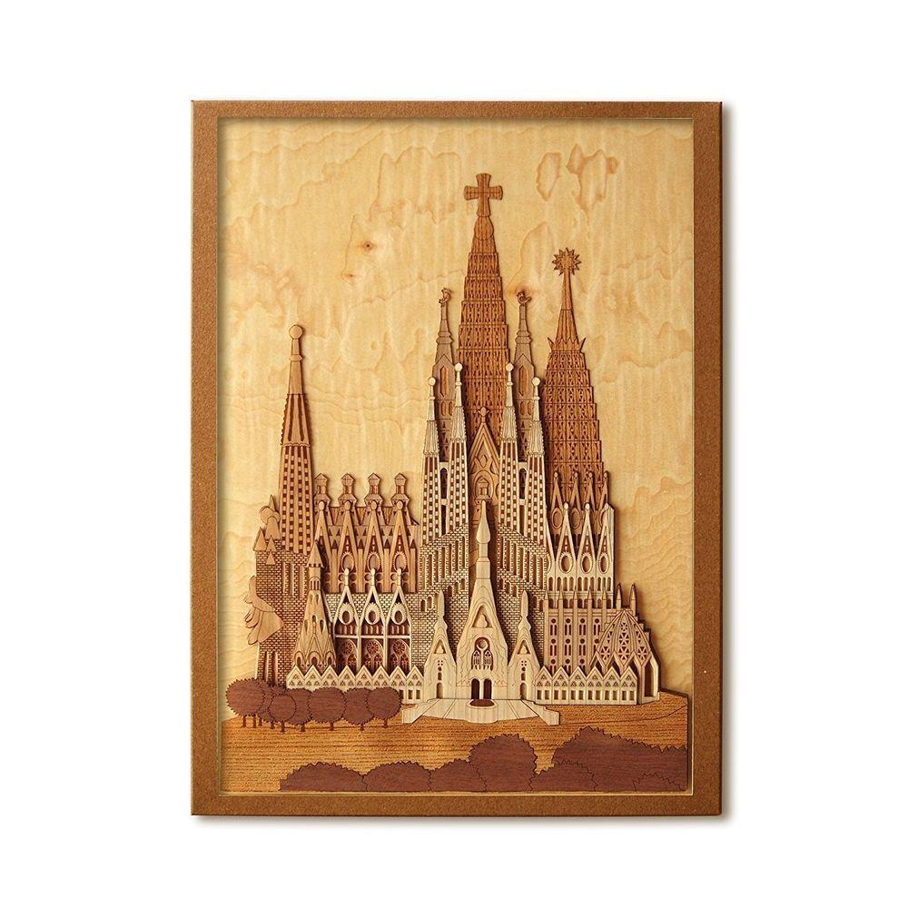 KINOWA Wooden Art Kit Kiharie Sagrada Familia Japanese Sliced Wood ...