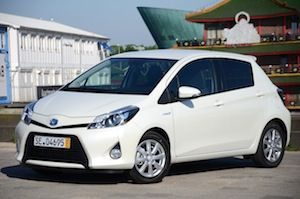 Model/Engine size: 1.5 HSD    Fuel: Petrol-electric hybrid   Fuel economy combined: 80.7 mpg    Green Car Guide Rating: 9/10    Toyota Yaris Hybrid   The Toyota Yaris Hybrid gets a Green-Car-Guide rating of 9 out of 10  The standard Yaris range starts at £10,635, so with the Hybrid starting at £14,995, it's £4,360 more expensive.