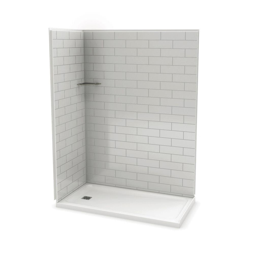Maax Utile Metro 32 In X 60 In X 83 5 In Corner Shower Stall In