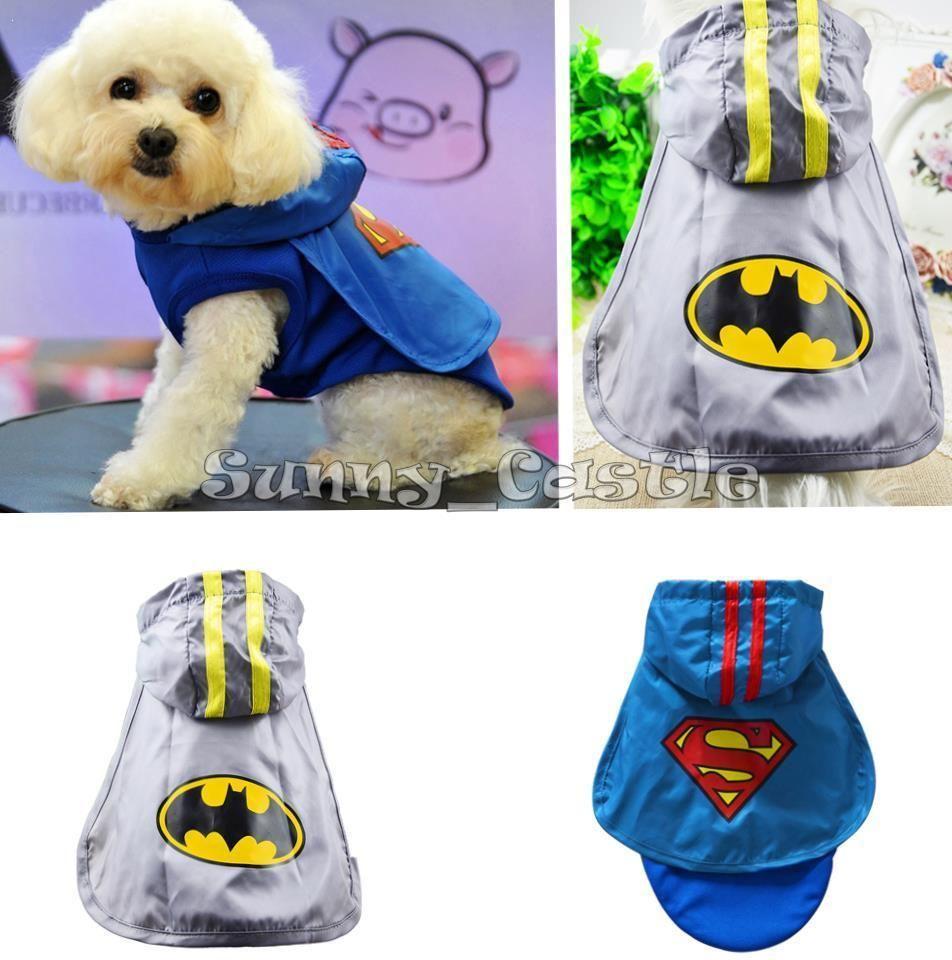Pet Dog Cat Puppy Super Hero Hooded Coat Clothes Cartoon Hoodie Cloak Apparel #Fashion #PetSuperheroCloakCoat #DressyEverydayHolidayPageantCasual