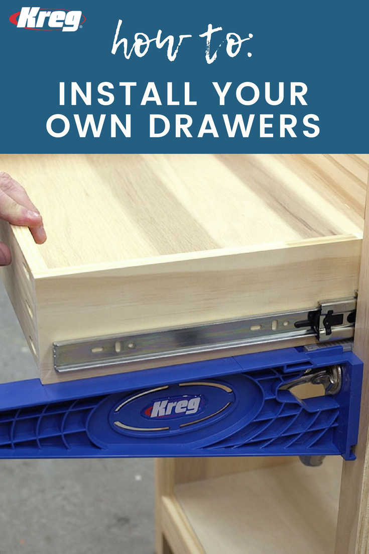 Want To Build Your Own Drawers These Handy Guides Make The Installation Of Drawer Slides Foolproof D Drawer Slides Diy Drawer Slides Sliding Drawer Hardware