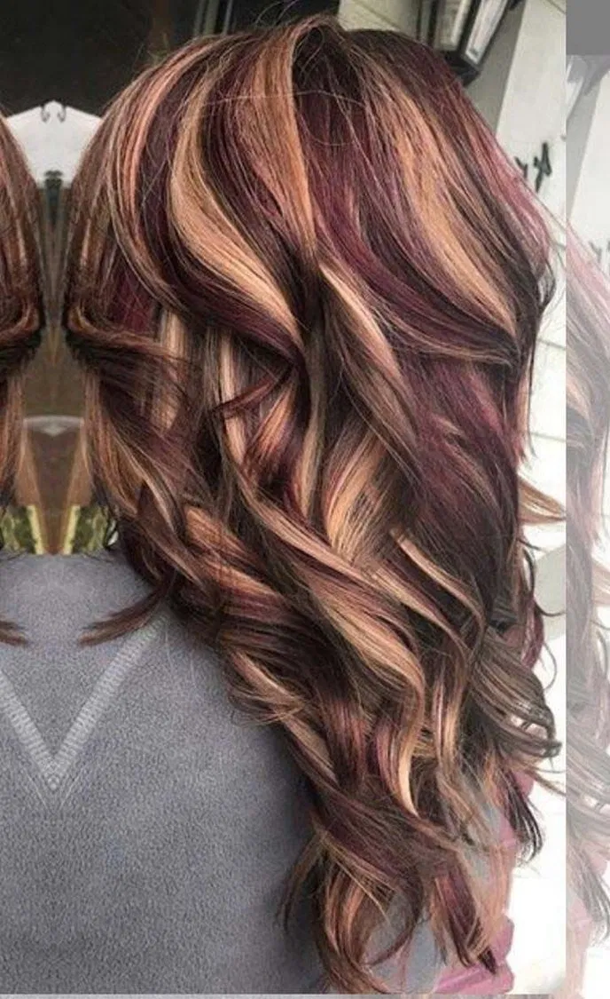 12 Trendy Ideas For Hair Color Ideas For Brunettes With Lowlights Red Haircuts Brunetteshairco Fall Hair Color For Brunettes Hair Styles Hair Color Highlights