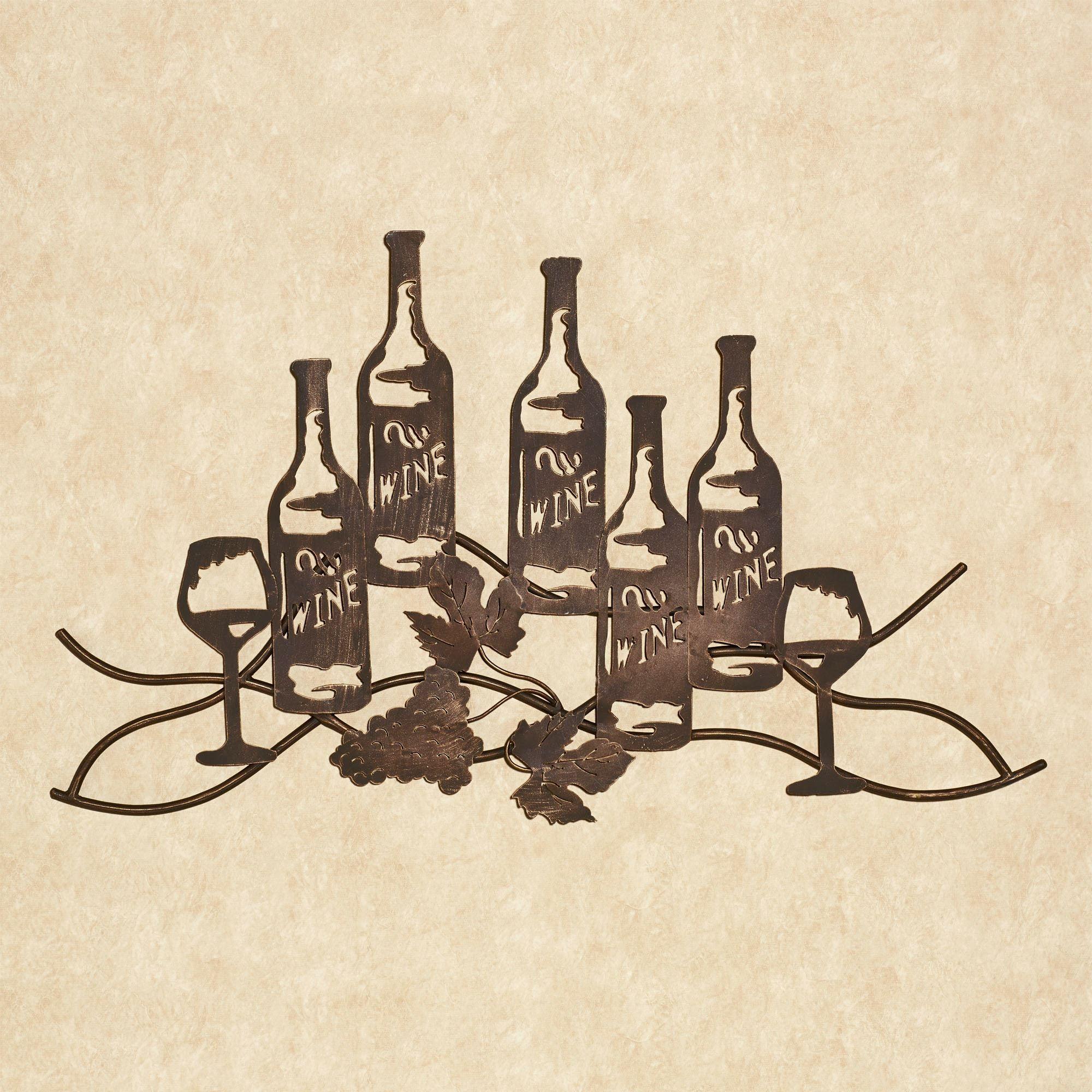 Wine And Grapes Metal Wall Art Wine Wall Art Shop Wall Art Wine Art