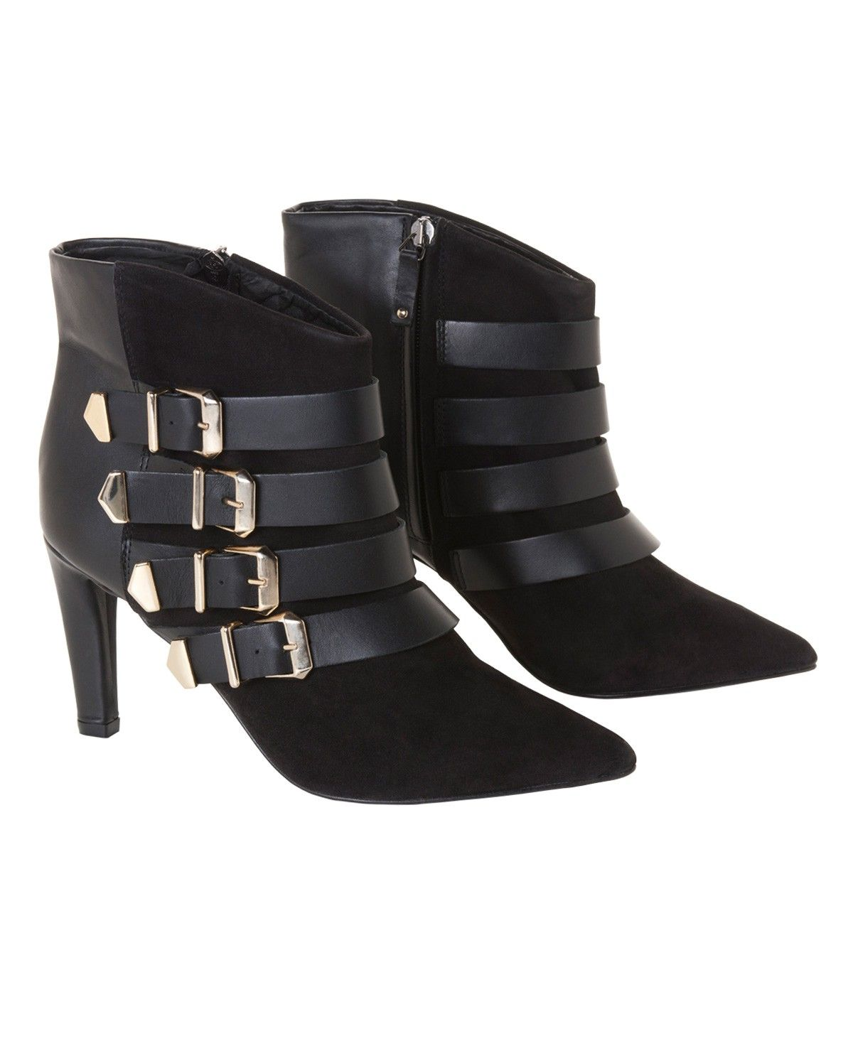 The Kooples Suede ankle boot with buckles  Shoes  Women