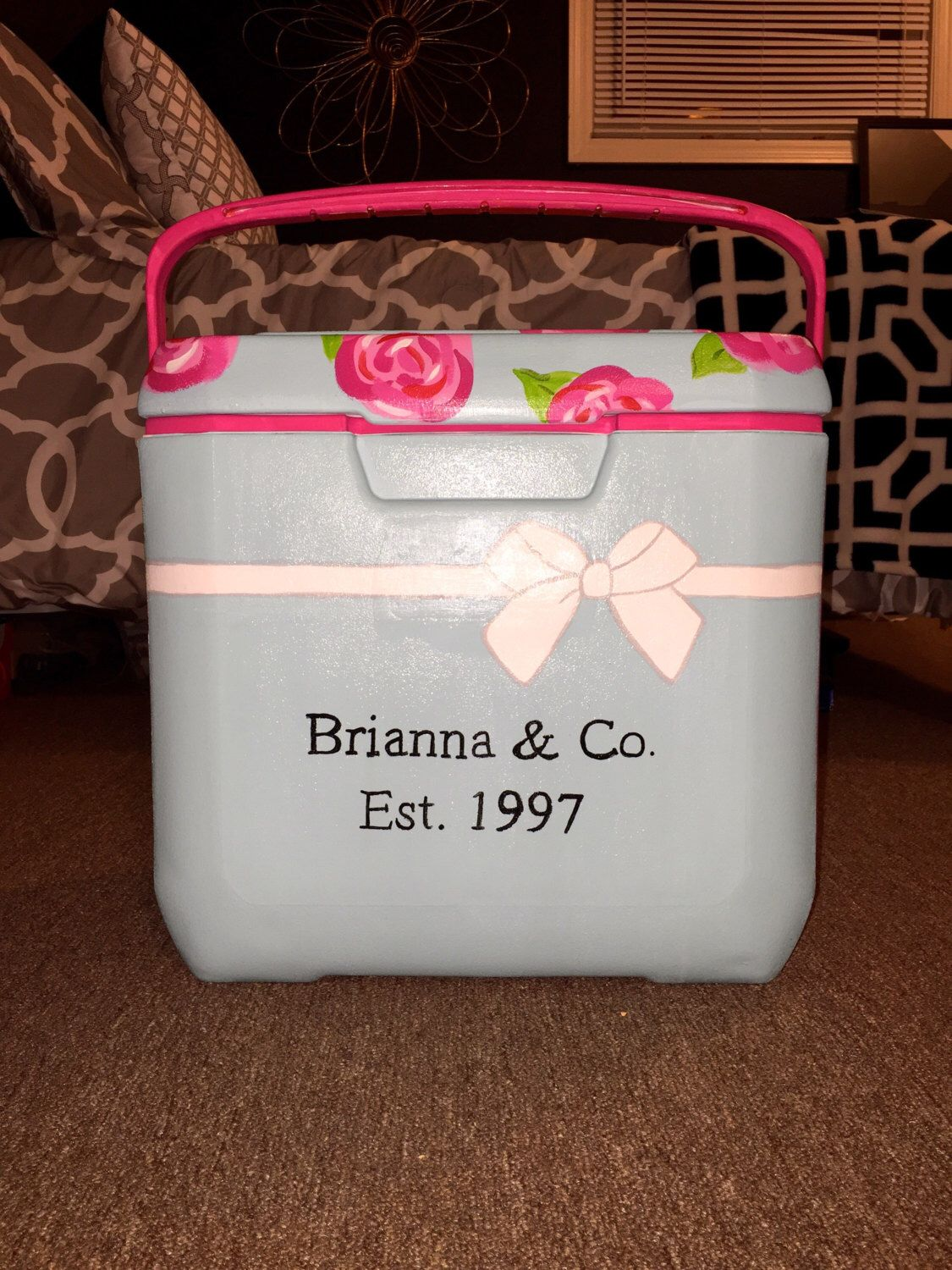 Hand painted cooler|| 28 quarts by TSRpaints on Etsy https://www.etsy.com/listing/453800392/hand-painted-cooler-28-quarts